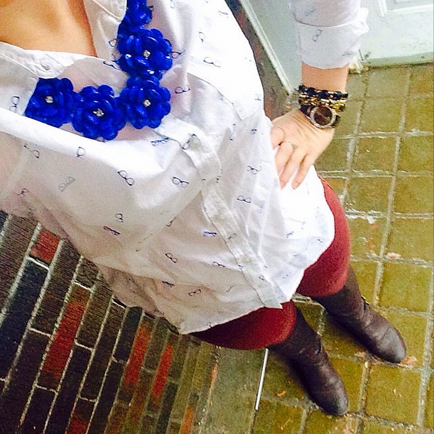 3/30/15   Shirt, Old Navy   Pants, JAG   Boots, mark. by Avon   Necklace, Icing  