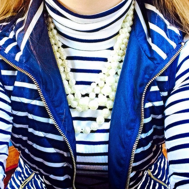 Stripes and Pearls - Pearls and Polkadots