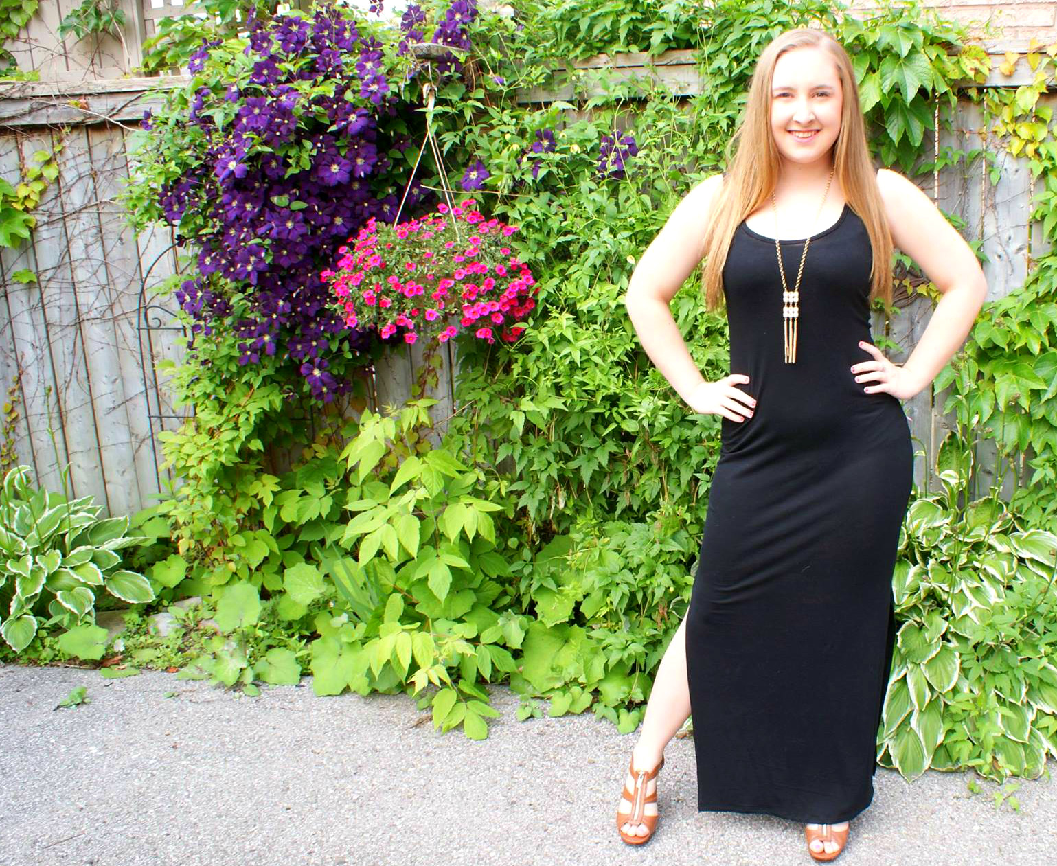 Outfit Details: the Black Maxi two ways!