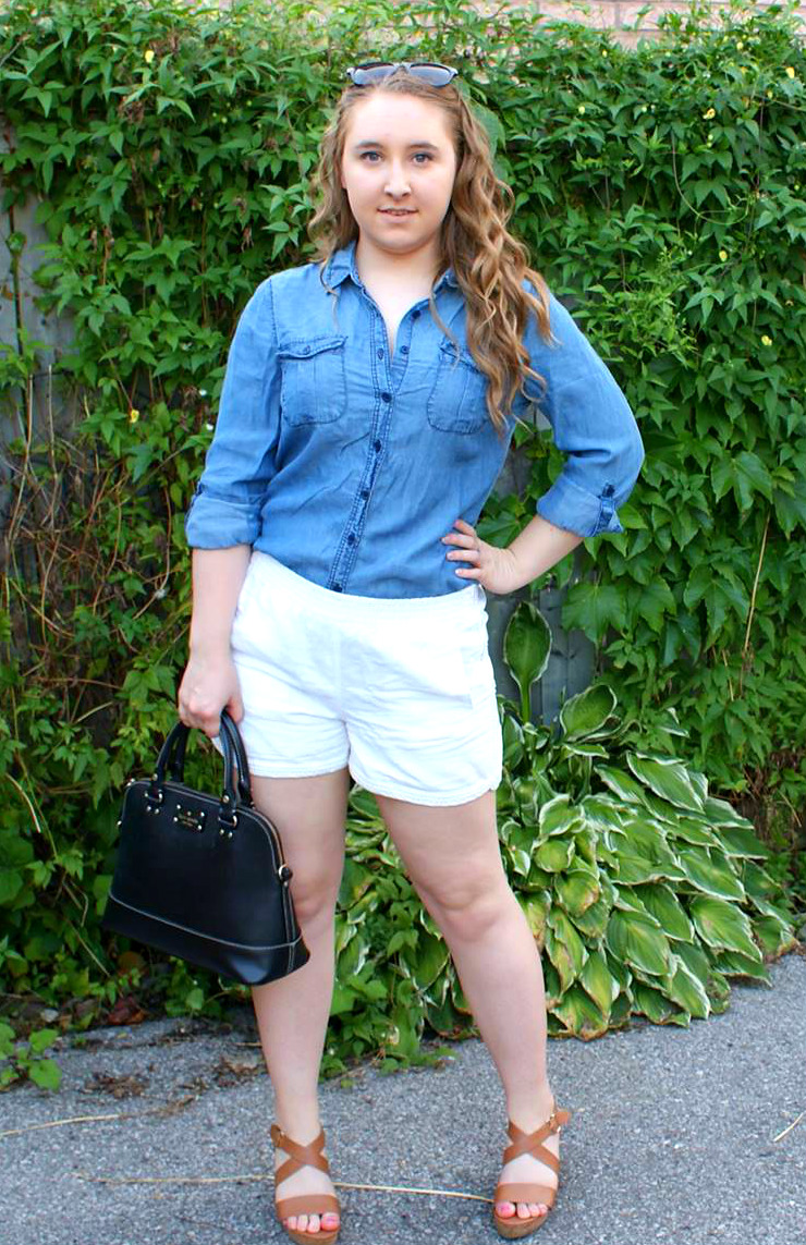 Outfit Details: Chambray + White