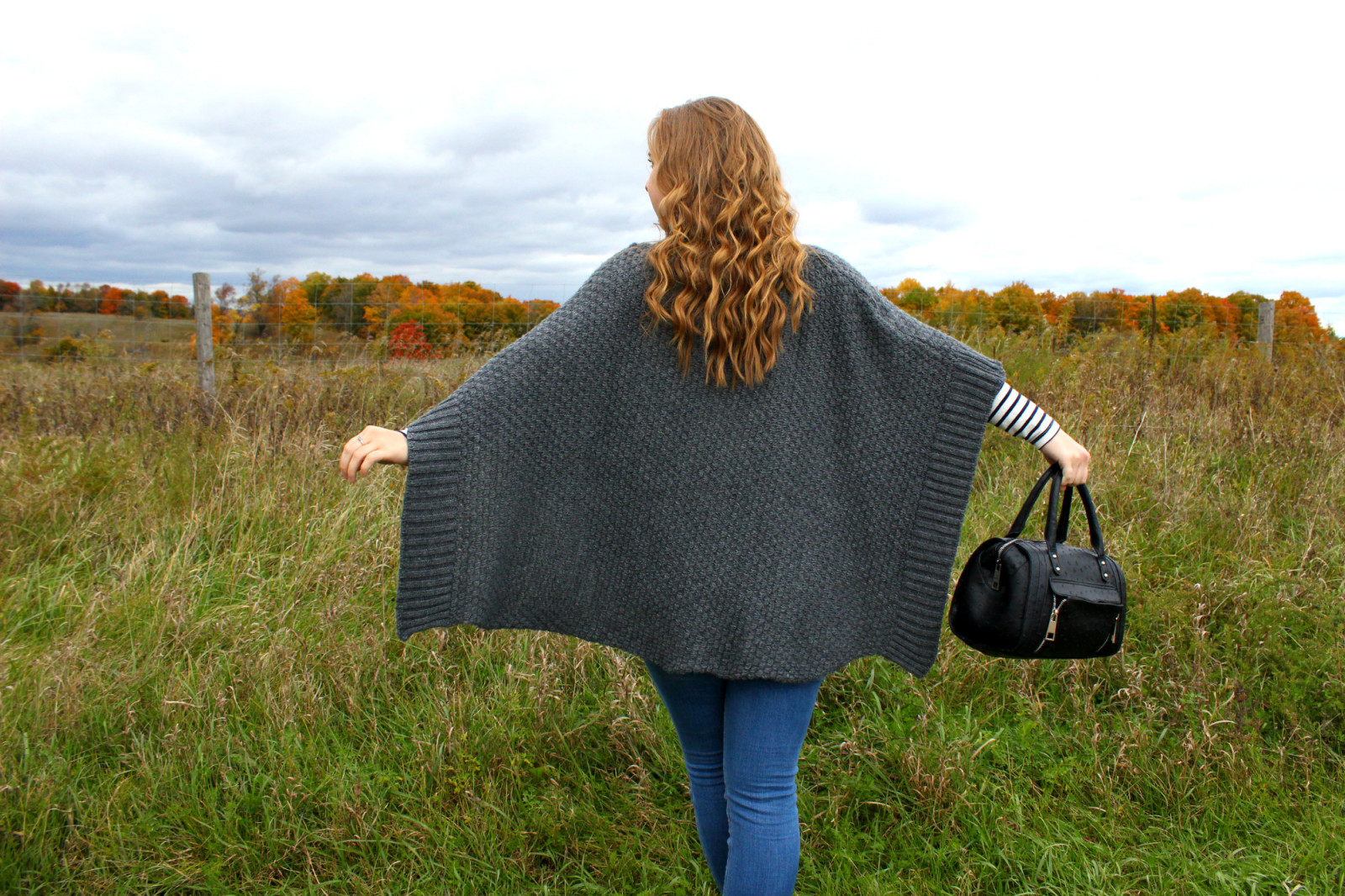 Poncho in the Wind - Pearls and Polkadots