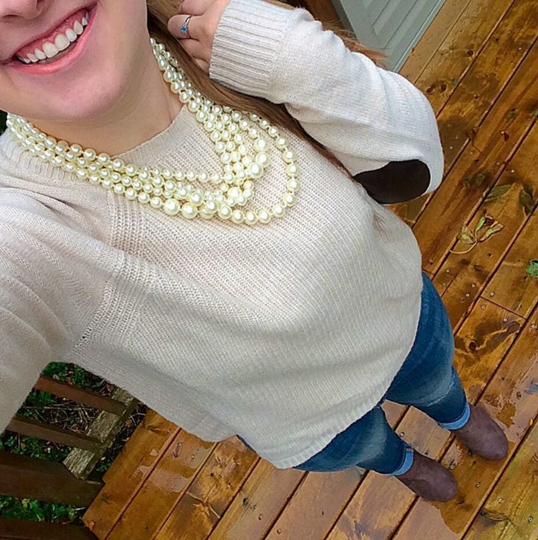 Sweater Weather - Pearls and Polkadots