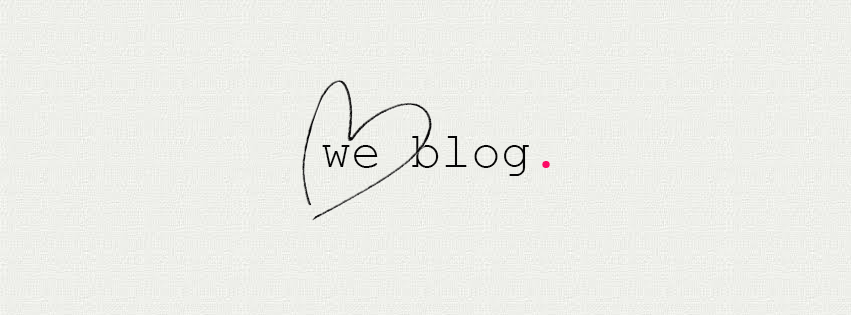 we blog. - Personal Goals
