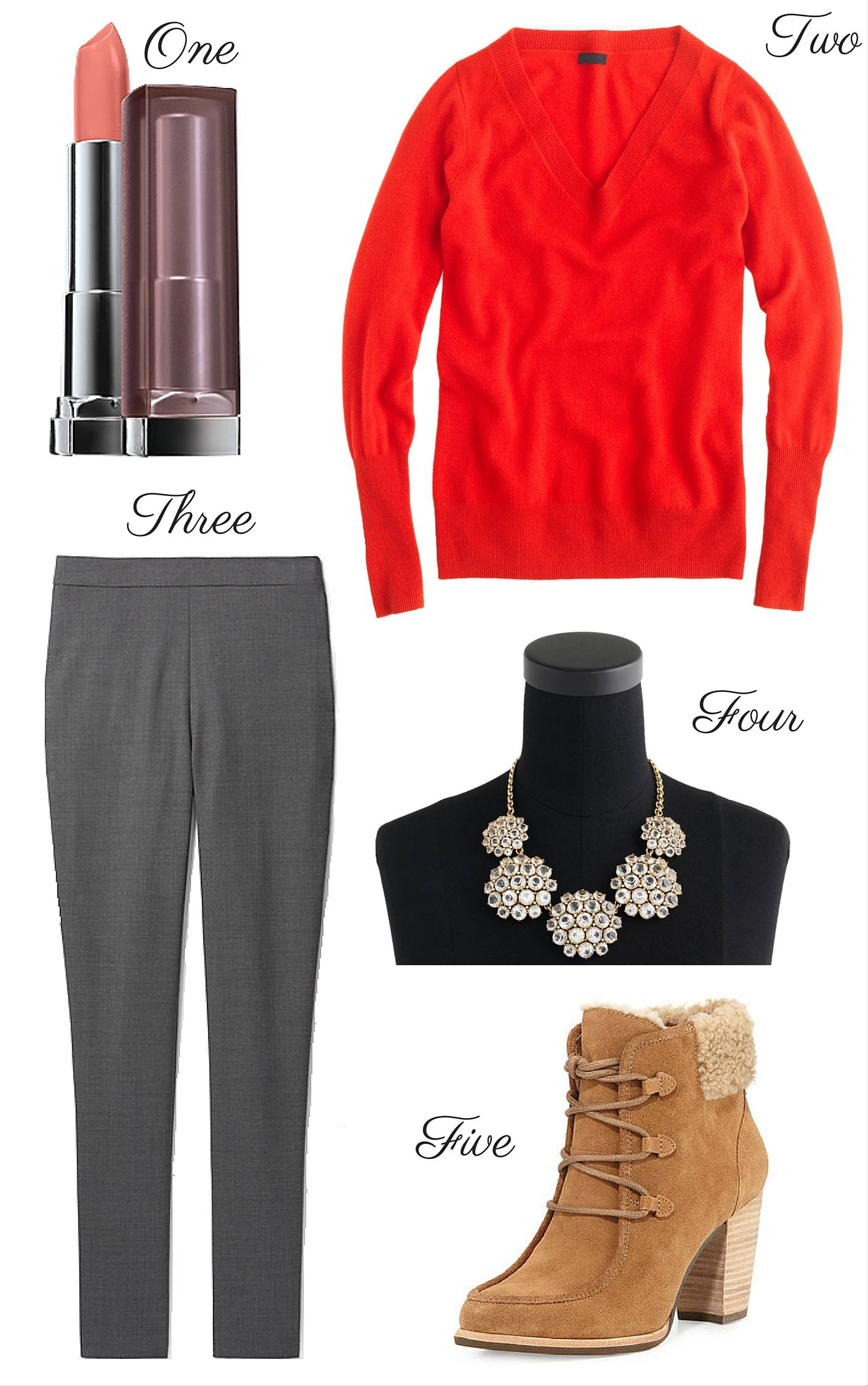 Winter Reds - Pearls and Polkadots