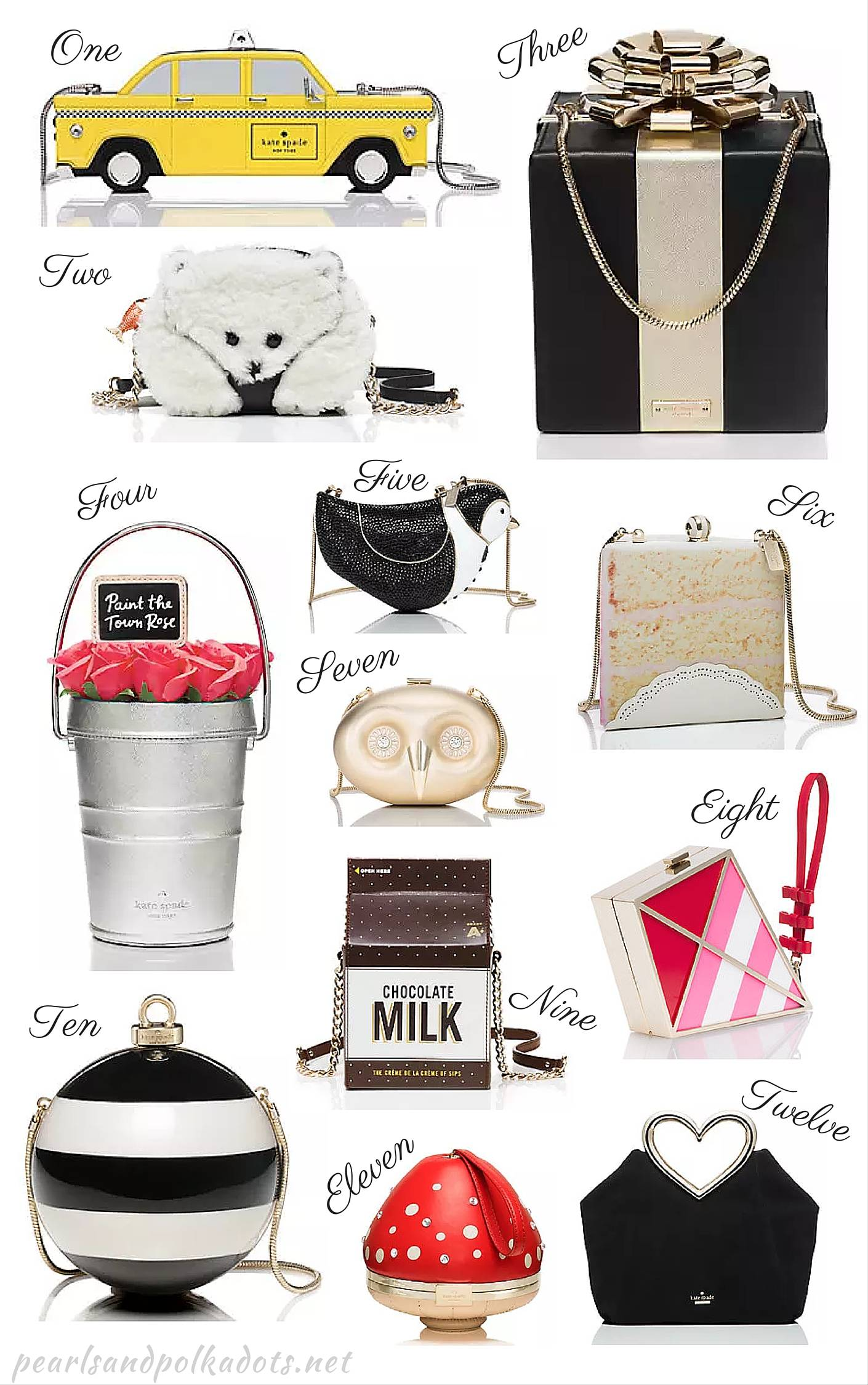 The 12 Cutest Kate Spade Motif Bags! - Pearls and Polkadots