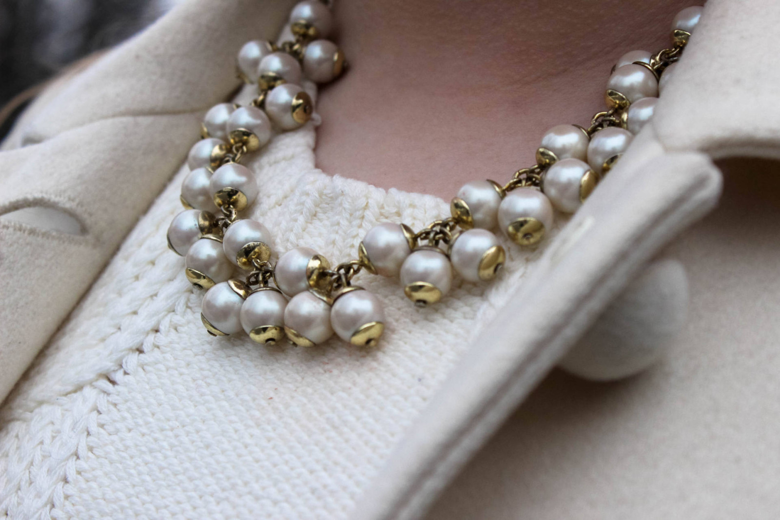 Winter Whites - Pearls and Polkadots