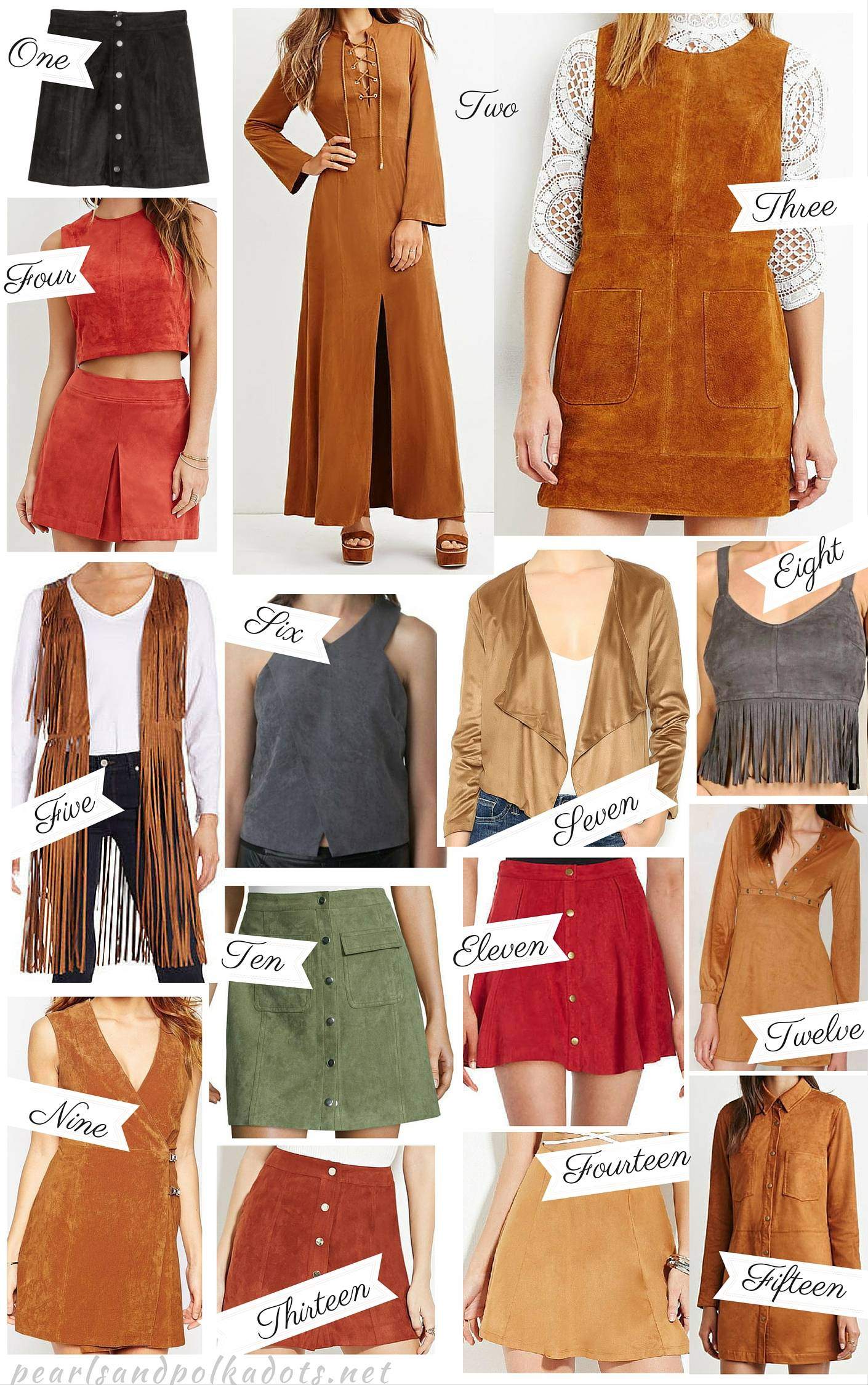 15 Trendy Suede Items Under $50 - Pearls and Polkadots
