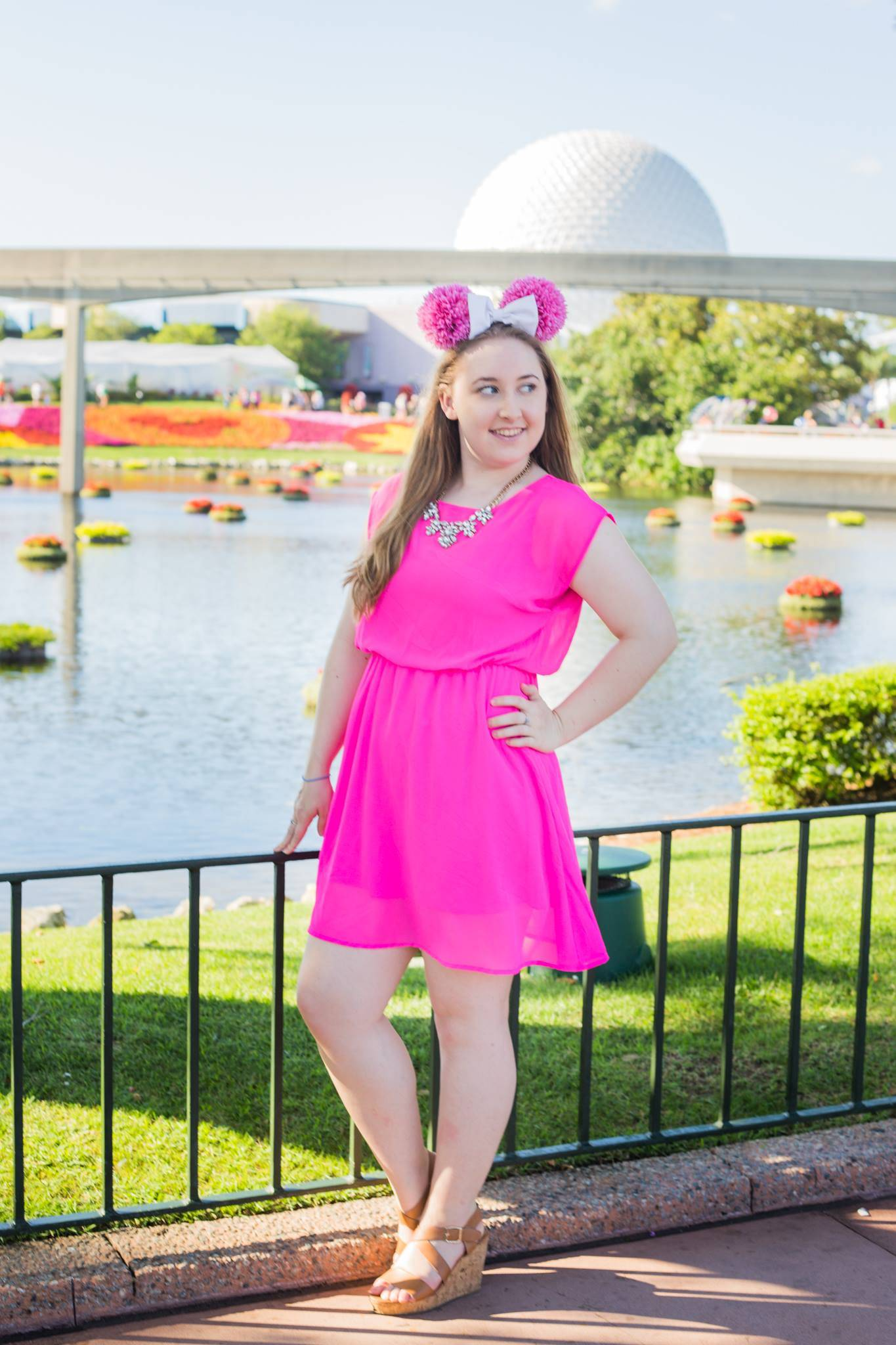The Pretty Faces and Flowers of Epcot - Pearls and Polkadots