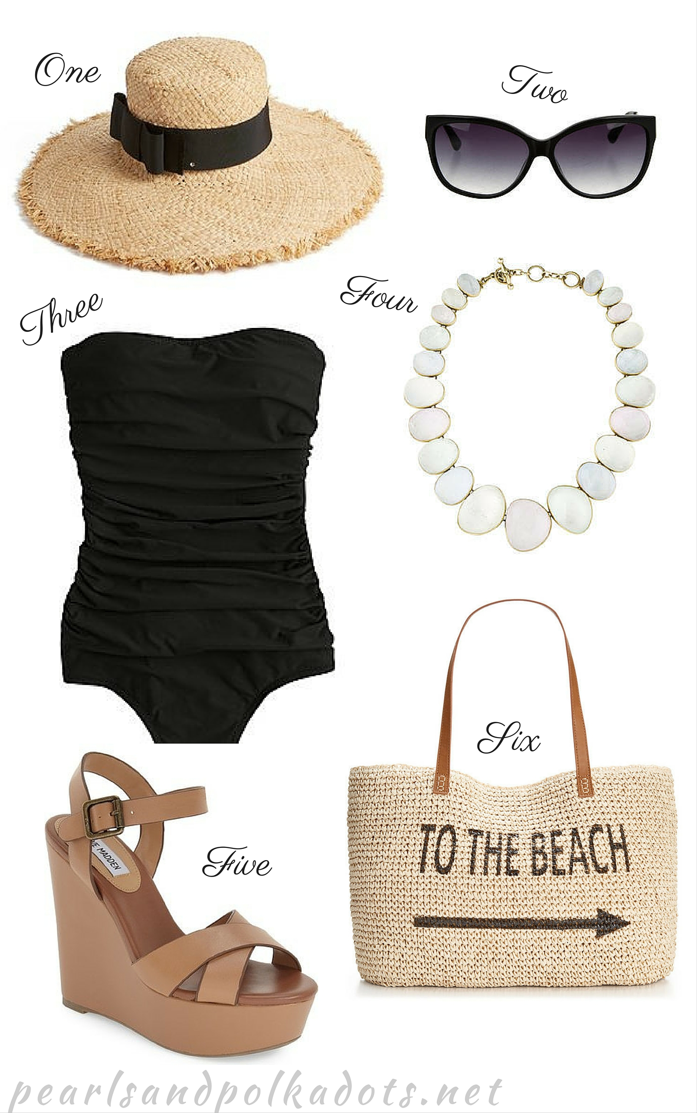 Beach Day Musts - Pearls and Polkadots