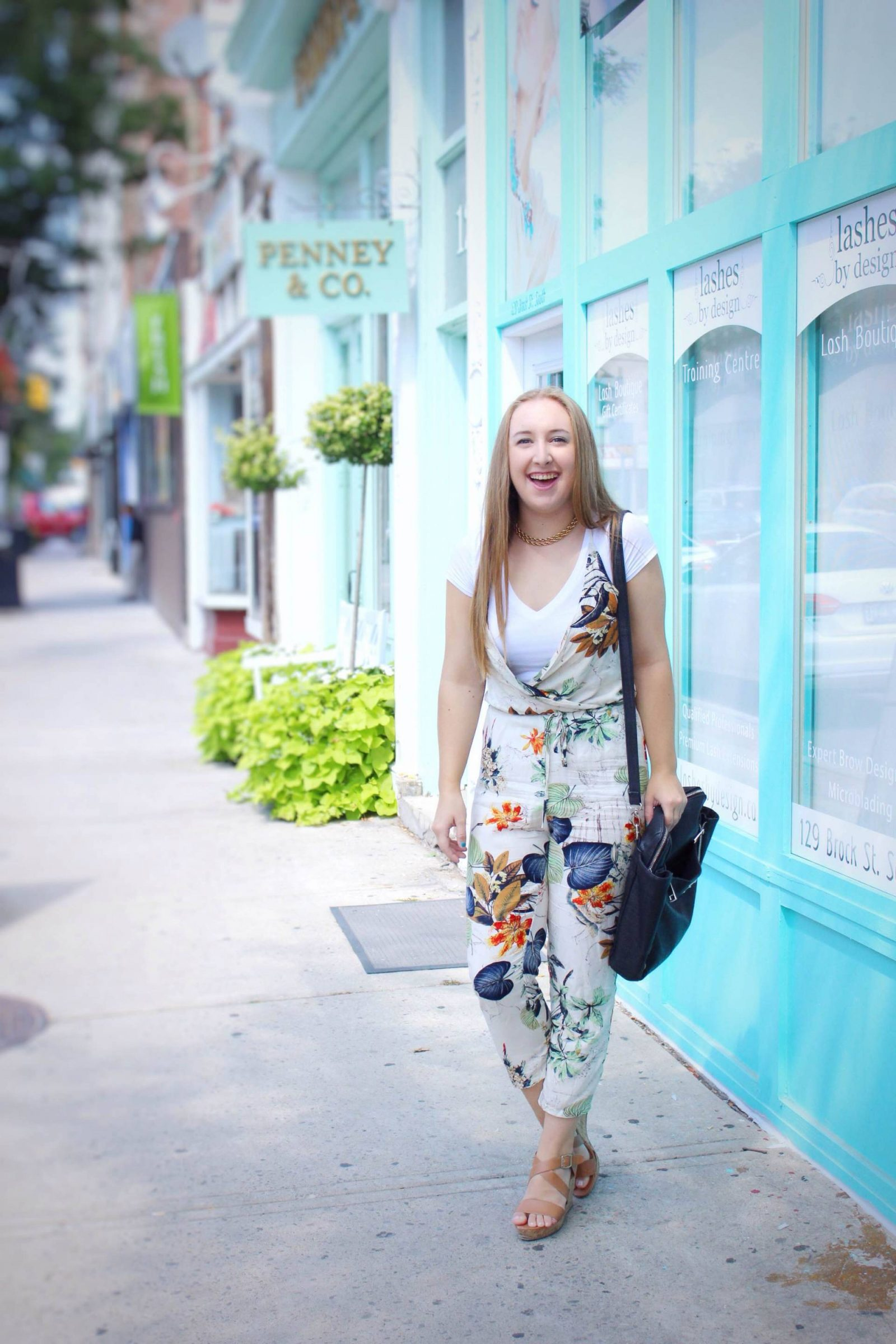 Floral Jumpsuit Style w/ Make Me Chic - Pearls and Polkadots