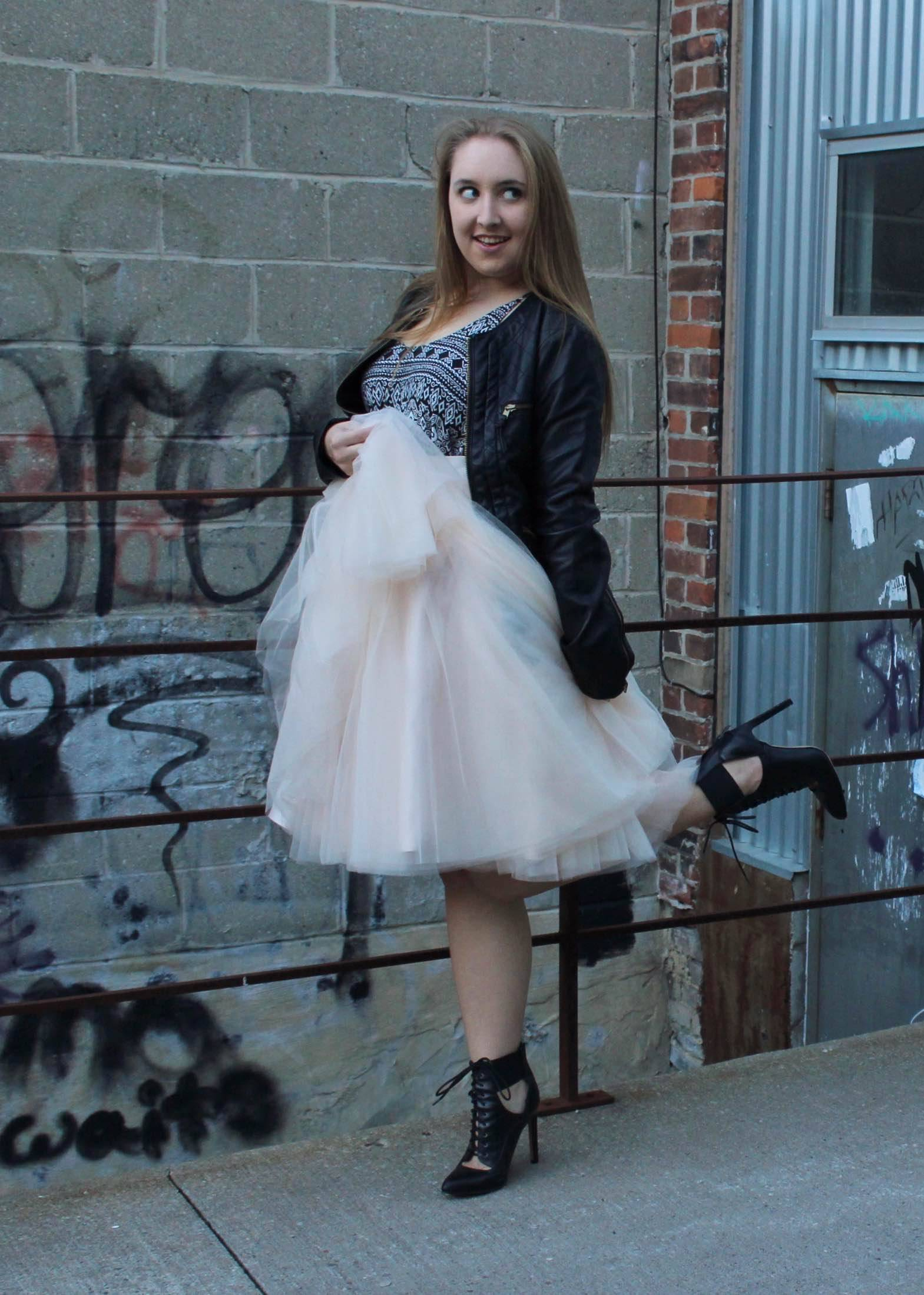 Edgy Ballerina w/ Style We - Pearls and Polkadots