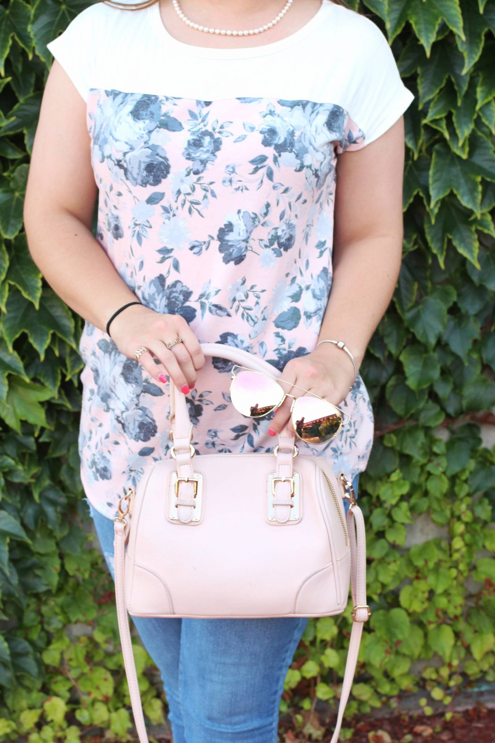 Blushing into the School Year - Pearls and Polkadots